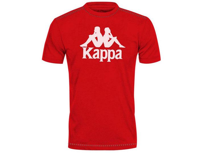 Kappa T-shirt Authentic Estessi Slim Red/White  303LRZ0-984