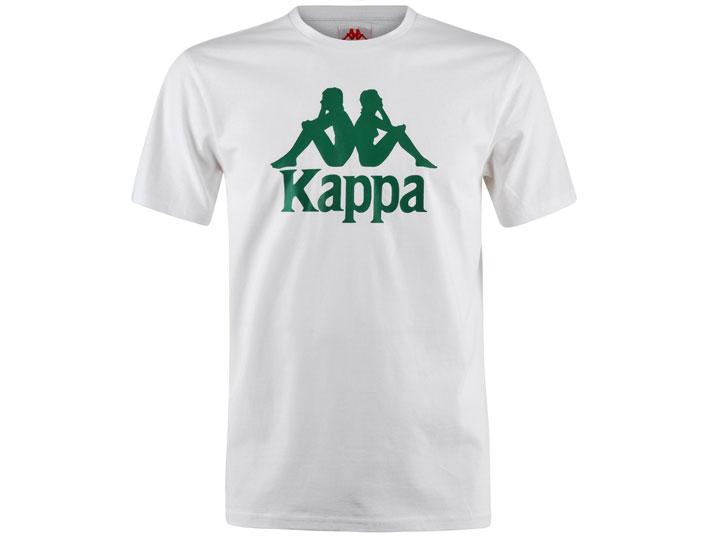 Kappa T-shirt Authentic Estessi Slim White/Green  303LRZ0-985