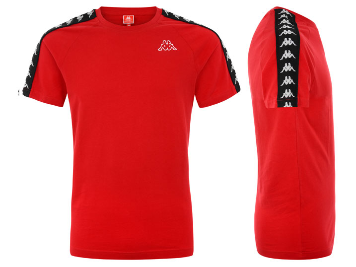 Kappa T-shirt Banda Coen Slim Red/Black/White  303UV10-A21