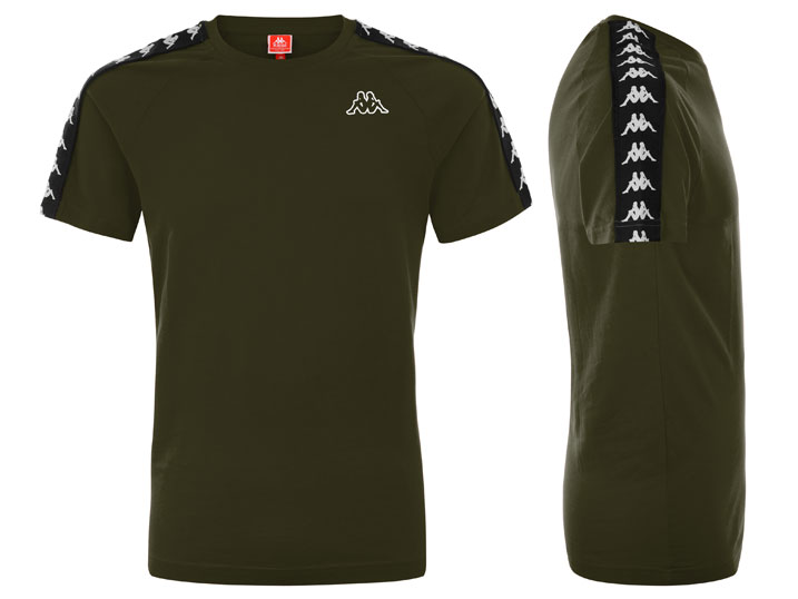 Kappa T-shirt Banda Coen Slim Green Military/Black  303UV10-A24