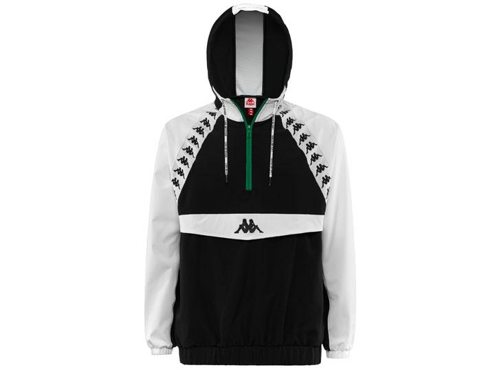 Kappa Jacket Authentic Bakit Black/White  304IDA0-906
