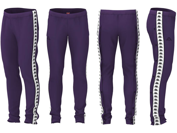 Kappa Trainingsbroek Astoria Snaps Slim Violet