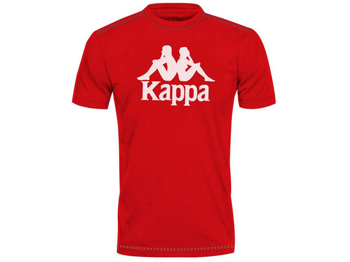 Kappa T-shirt Authentic Estessi Slim Red/White