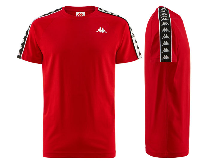 Kappa T-shirt Banda Coen Slim Red/Black