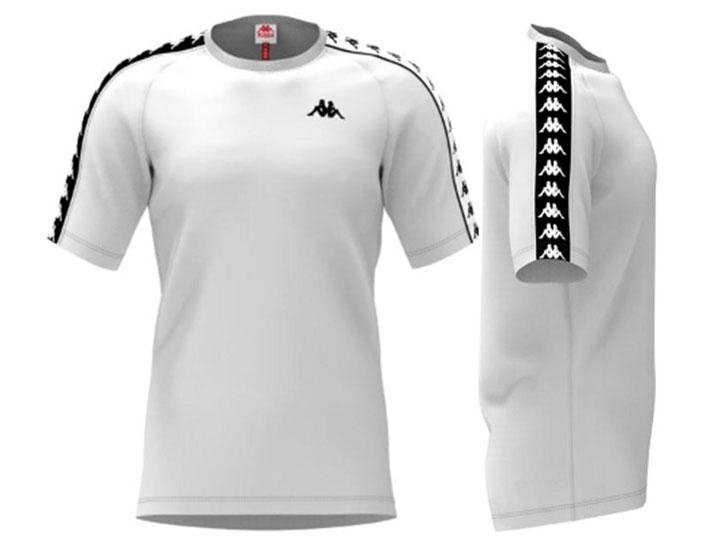 Kappa T-shirt Banda Coen Slim White/Black
