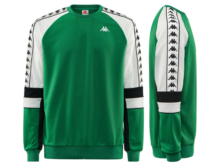 Kappa Sweater 222 Banda Arlton Green/Black/White