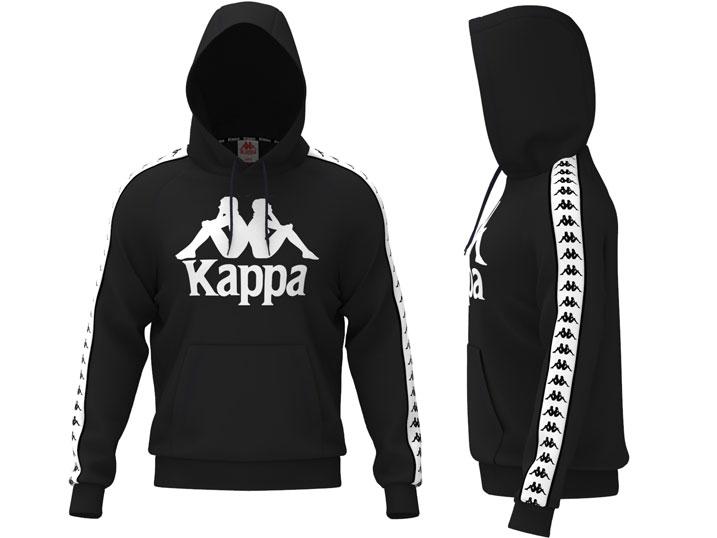 Kappa Hoodie Banda Hurtado Black/White
