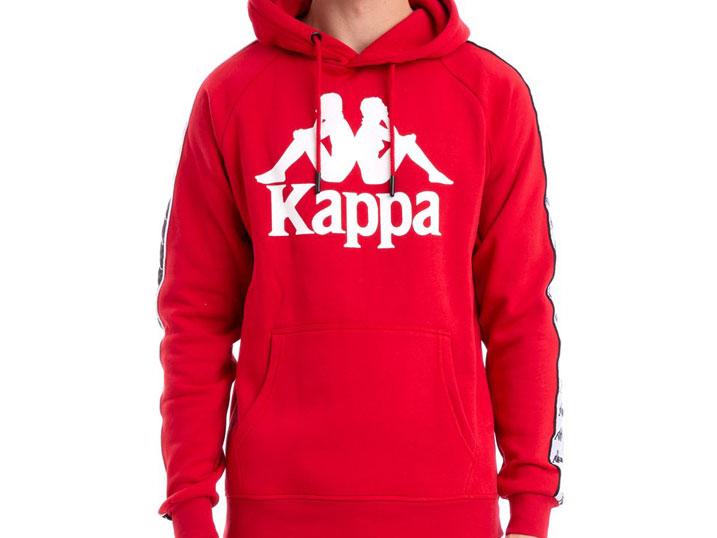 Kappa Hoodie Banda Hurtado Red/White/Black
