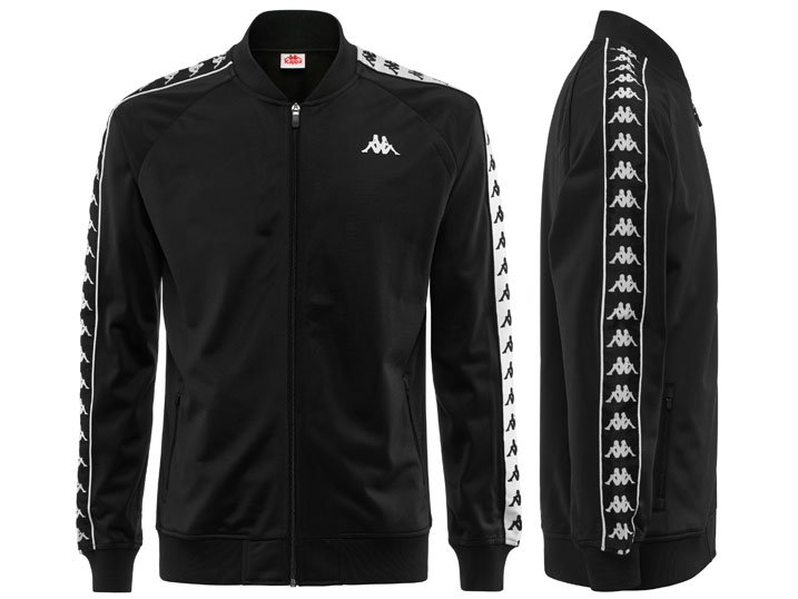 Kappa Trainingsjack Bomber Slim Black