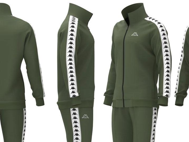 Kappa Trainingpak Bandana Military Green