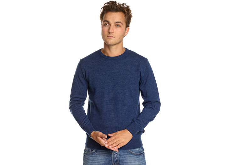 Robe di Kappa Merino Roundneck China Blue