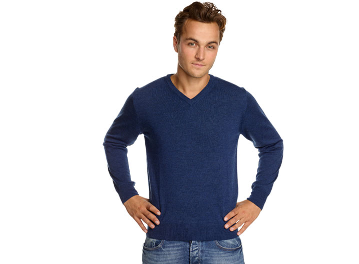 Robe di Kappa Merino V-neck China Blue